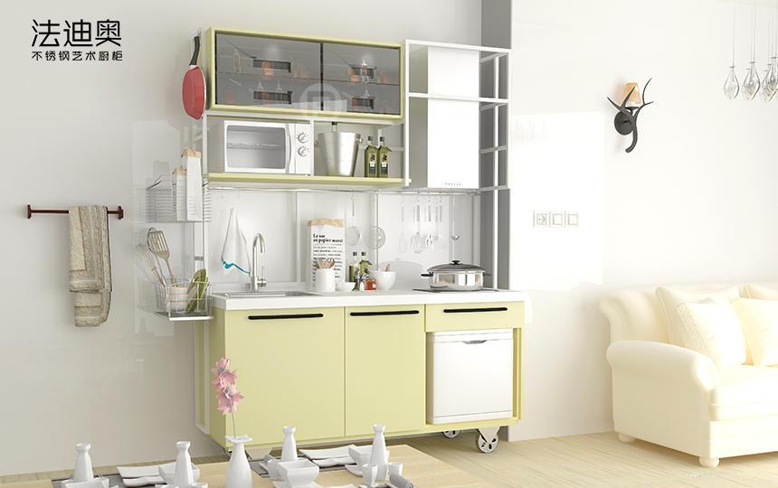 移动厨柜系列—M001 青桅