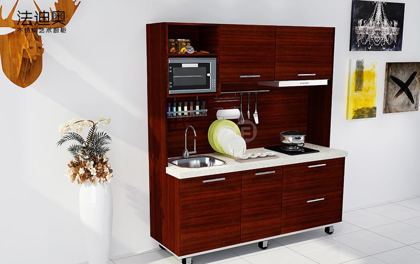 移动厨柜系列—M002 红颜